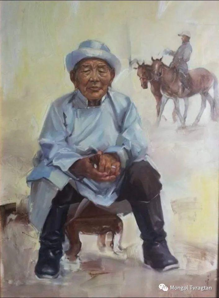 蒙古国画家-勒 巴雅尔琪琪格作品 第5张