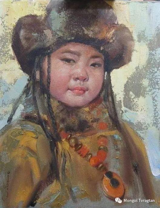 蒙古国画家-勒 巴雅尔琪琪格作品 第3张