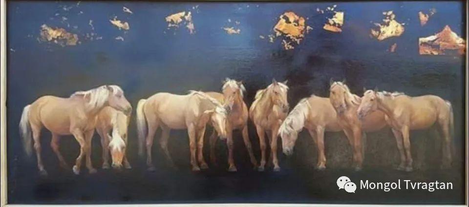 蒙古国画家-勒 巴雅尔琪琪格作品 第9张