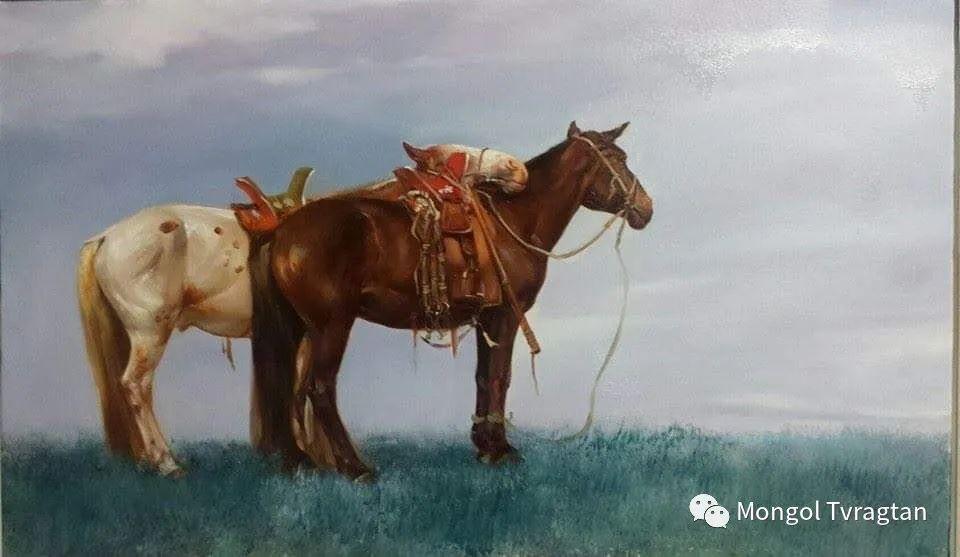 蒙古国画家-勒 巴雅尔琪琪格作品 第8张