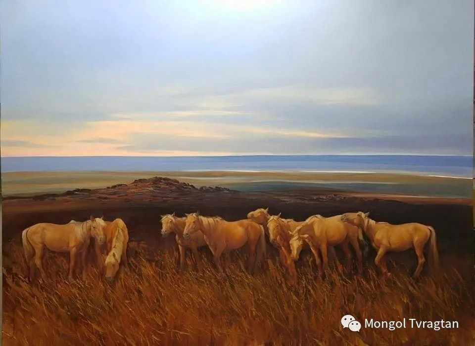 蒙古国画家-勒 巴雅尔琪琪格作品 第13张