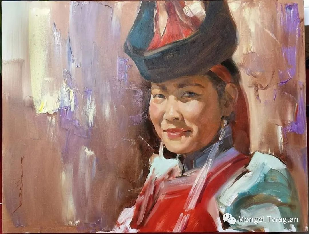 蒙古国画家-勒 巴雅尔琪琪格作品 第10张