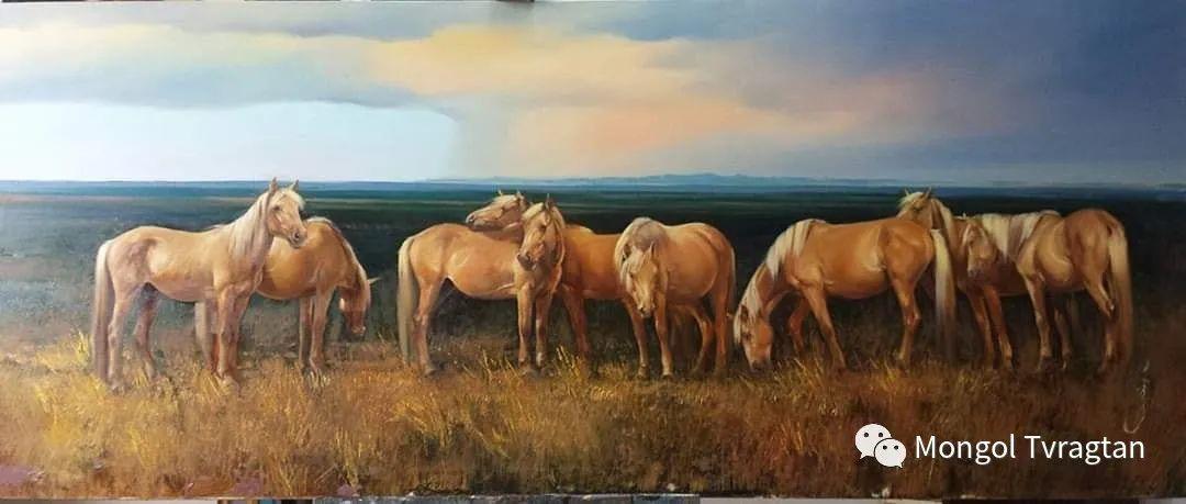 蒙古国画家-勒 巴雅尔琪琪格作品 第12张