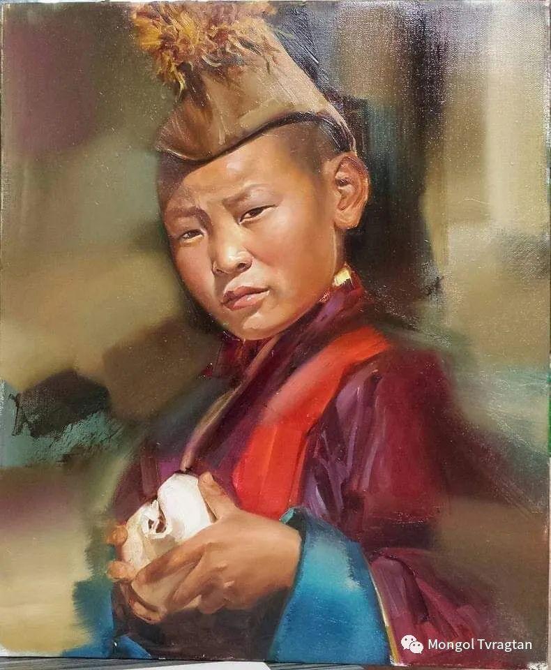 蒙古国画家-勒 巴雅尔琪琪格作品 第14张