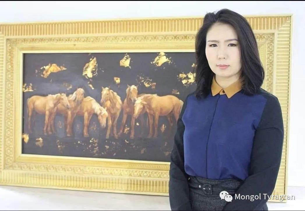 蒙古国画家-勒 巴雅尔琪琪格作品 第15张