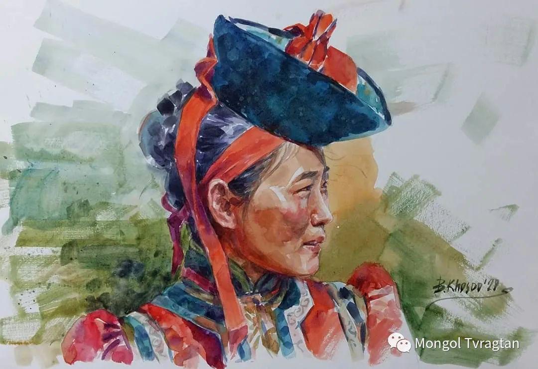 布。浩斯巴雅尔水彩画