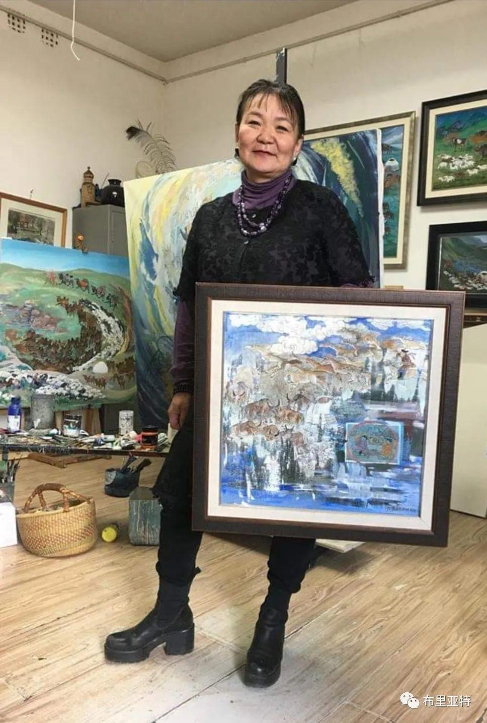 蒙古女画家D.Badam游牧题材作品欣赏