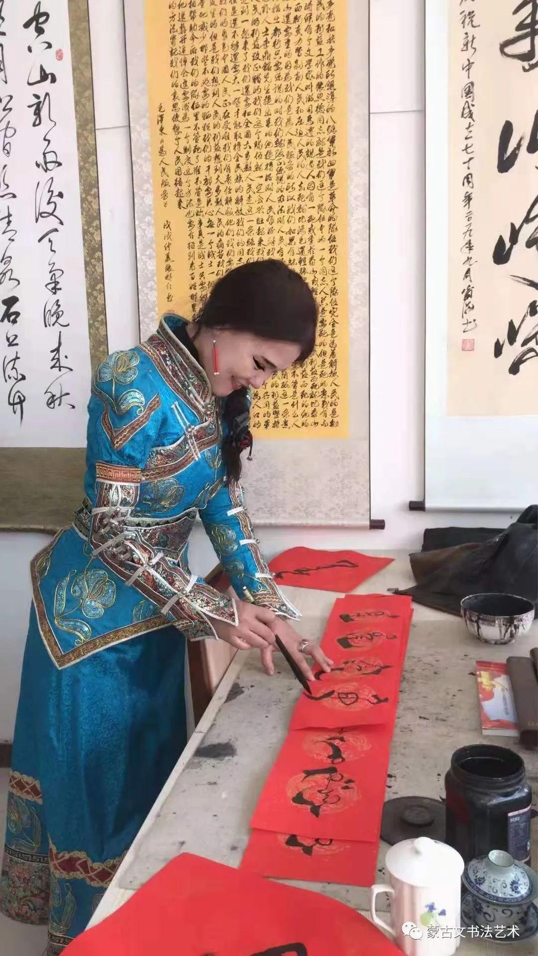 蒙古文春联欣赏(白苏雅拉)