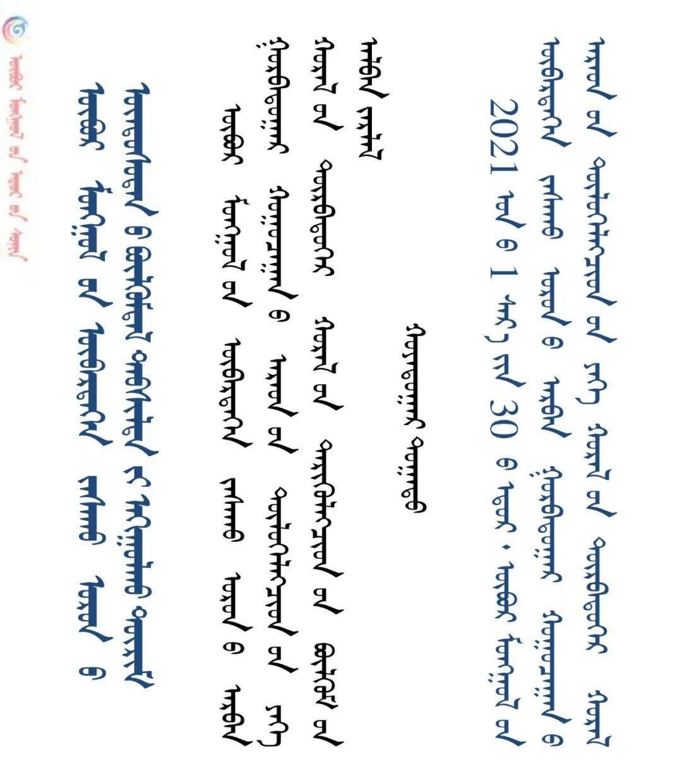 内蒙治区促进民族古自团结进步条例(蒙古文))